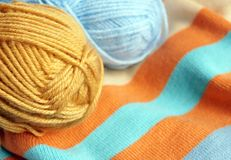 Colourful knitting Stock Image