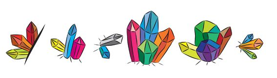 Colourful Kopalni kryształy Obrazy Royalty Free