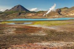 Colourful krajobraz w Myvatn terenie - Iceland. Zdjęcie Stock