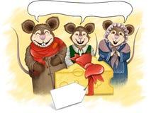 Colourful kreskówek myszy ilustracja - ręka Rysująca Zdjęcia Stock