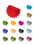 Colourful label set royalty free illustration