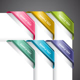 Colourful Labels On Corner. A set of colourful labels on the corner of the page Stock Photo