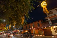 Colourful lampion, festiwal, Yi Peng lub Loy Krathong Fotografia Stock