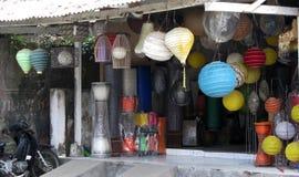 Colourful lampiony dla sprzedaży Zdjęcia Royalty Free