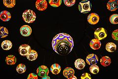 Colourful Lamps Royalty Free Stock Photo