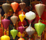Colourful lamps Royalty Free Stock Images