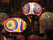 Colourful Lamps Royalty Free Stock Photos