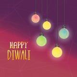 Colourful lampy dla Szczęśliwego Diwali świętowania ilustracja wektor