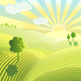 Colourful landscape Stock Photo