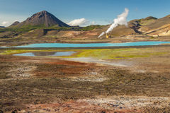 Colourful landscape in Myvatn area - Iceland. Stock Photo