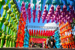 Colourful lantern Stock Images