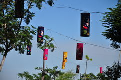 Colourful lanterns in day time Stock Photos
