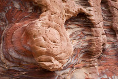 Colourful layers of sandstone Stock Photos