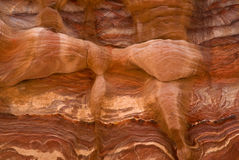 Colourful layers of sandstone Royalty Free Stock Images