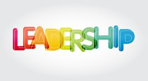 Colourful leadership word motivation and inspireation vector illustration