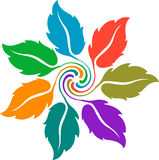Colourful leaf logo Stock Photography