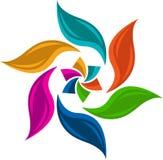 Colourful leaf logo. Illustration art of a colourful leaf logo with isolated background Royalty Free Illustration
