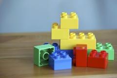 Colourful Lego Bricks On Wooden Background Royalty Free Stock Photo