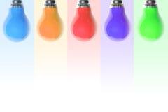 Colourful light bulbs Royalty Free Stock Photography