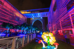 A colourful light projection at Putrajaya Malaysia. Stock Photography