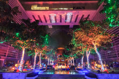 A colourful light projection at Putrajaya Malaysia. Stock Image