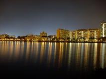Colourful light reflection at Pandan Reservoir Royalty Free Stock Image