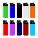 Colourful lighter Stock Images