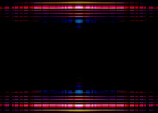 Colourful lights border on black. Red and blue blurred lights border on a black background Stock Photography