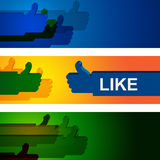 Colourful Like Indicates Social Media And Friend Stock Photography