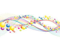 Colourful lines vector illustration
