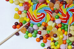Colourful Lollipop. An image of colourful lollipop shot in the studio against a white background stock photography