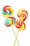 Colourful lollipop isolated Royalty Free Stock Photos