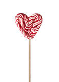Colourful lollipop in the shape of a heart Royalty Free Stock Images