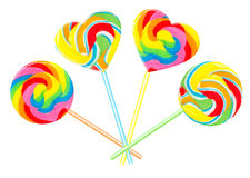 Colourful lollipops Royalty Free Stock Images
