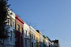 Colourful London houses stock photo