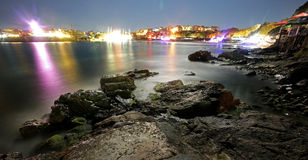 Colourful long exposure gulf panorama Stock Images