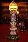 The Longevity Lantern. This colourful longevity lantern signifies the light that wards off evil spirits of mankind Stock Photos