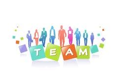 Colourful ludzie biznesu sylwetek, grupa różnorodność biznesmen, pomyślny drużynowy pojęcie A4 horyzontalny ilustracja wektor