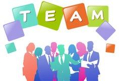 Colourful ludzie biznesu sylwetek, grupa różnorodność biznesmen, pomyślny drużynowy pojęcie A4 hotizontal royalty ilustracja