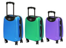 Colourful Luggages with Wheels Royalty Free Stock Image