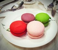 Colourful Macarons stock photo