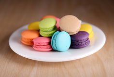 Colourful macarons lub macaroons Obrazy Royalty Free