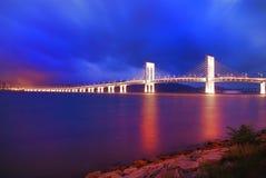 Colourful Macau cityscape of bridge Stock Photography