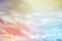 Colourful majestic heaven. Royalty Free Stock Image