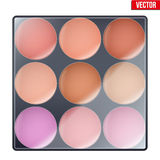 Colourful of Make Up Palette Royalty Free Stock Photos