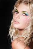Colourful makeup stock image