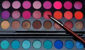 Colourful makeup. This is a close up shot of makeup Royalty Free Stock Photography