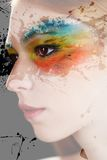 Colourful makeup Stock Photography