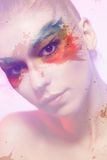 Colourful makeup Stock Images