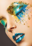 Colourful makeup Royalty Free Stock Images
